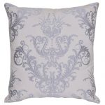 Set of 3 White and Grey Embroidered Cotton Cushion Covers