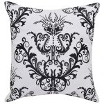 Set of 3 Black and White Embroidered Cotton Cushion Cover