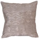 Machine embroidery poly Velvet Beige Color Set of 3 Cushion Cover