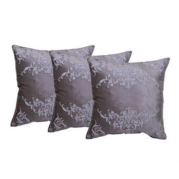 Set of 3 Velvet Grey Cushion Covers