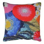 Set of 3 Multicolor Flowers Printed Cotton Cushion Cover