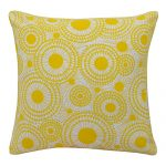 Set of 3 Yellow Organic Cotton Cushion Cover
