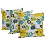 Set of 3 Multi Color Floral Printed Cushion Cover