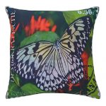 Set of 3 Multi Color Digital Butterfly Print Cotton Cushion