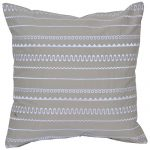Set of 3 Grey Cotton Cushion Covers