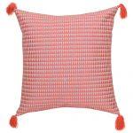 Set of 3 Peach Cotton Cushion Cover