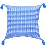Set of 3 Blue Organic Cotton Cushion Cover
