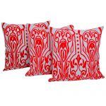 Set of 3 Aari Woollen Embroidered Cotton Cushion Cover