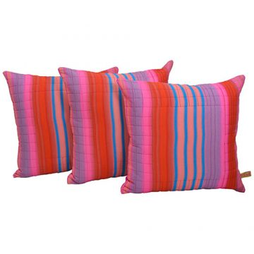 Set of 3 Cotton Voile Cushion Covers