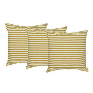 Set of 3  digital printed organic Cotton Striped Cushion Cover
