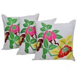 Set of 3 Multi Color Organic Cotton Cushion Cover