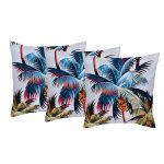 Set of 3 Cotton Digital Printed Organic Cotton Multi Color Cushion Cover