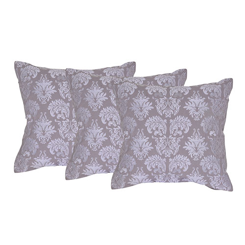 Set of 3 Cotton Machine Embroidered Cushion Cover