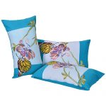 Set of 3 Digital Butterfly Print Cotton Pillow Cover