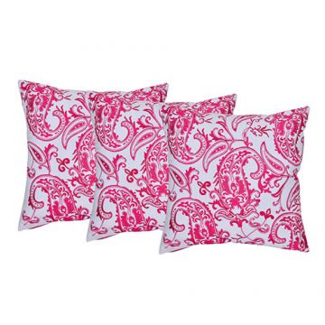 Set of 3 Multi Color Embroidered Cotton Cushion Cover
