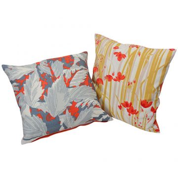 Multicolor Set of 2 Zip Closure  organic Cotton Cushion Covers