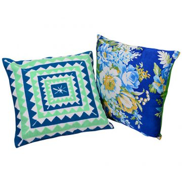 Set of 2 Multi Color Organic Cotton Cushion Covers