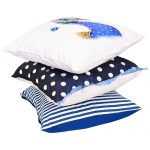 Set of 3 digital printed & Embroidered Cushion covers