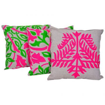 Multicolor Embroidered Set of 3 Mix match Cotton Cushion Cover