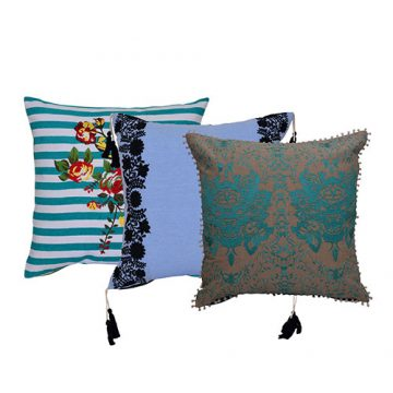 Set of 3 Digital Printed Multicolor Cushion Covers