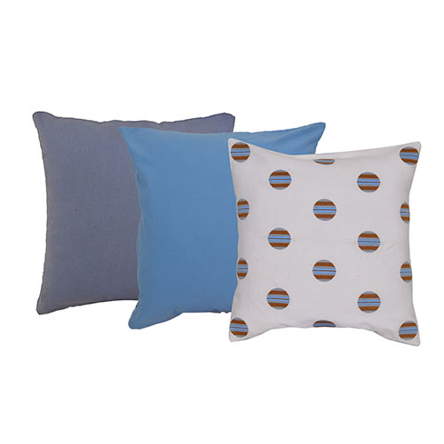 Set of 3 Mix Match Multicolor Cotton Velvet Cushion Cover