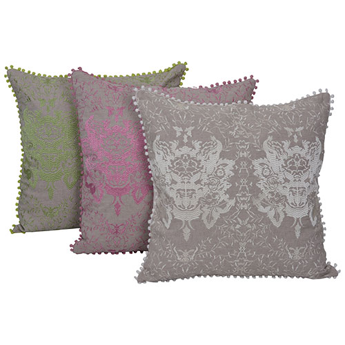 Set of 3 Mix match Multicolor Embroidered Cotton Cushion Cover