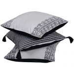 Set of 3 Mix match White & Black Cotton Cushion Cover