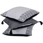 Set of 3 Mix match White & Black Cotton Cushion Cover