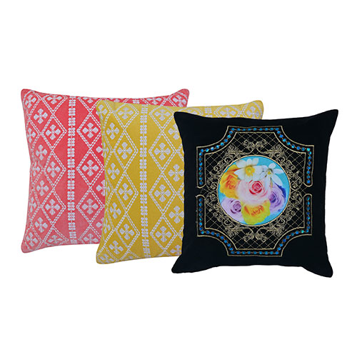 Set of 3 Mix match Multicolor Cotton Cushion Cover