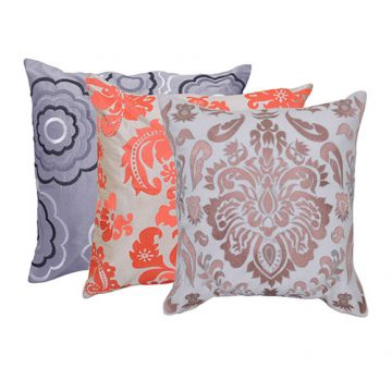 Set of 3 Mix match Multi Color Stylish Cotton Cushion Cover
