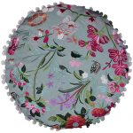 Multi Color Round Organic Cotton Cushion cover
