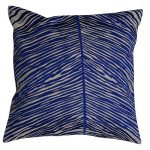 Set of 3 Cotton Multicolored Embroidered Blue Cushion Cover