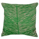 Set of 3 Cotton Embroidered Green Cushion Cover