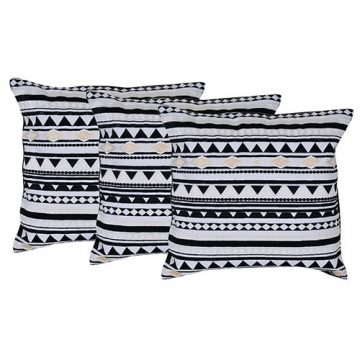 Set of 3 Cotton Multi Color Embroidered Cushion Cover