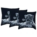 Set of 3 Cotton Printed Cushion Cover