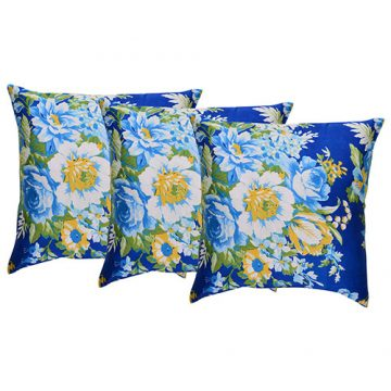 Set of 3 Multicolor Cotton Printed Cushion Cover