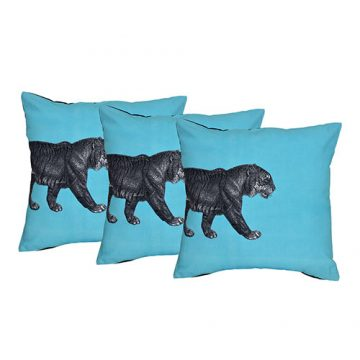 Set of 3 Cotton digital Tiger Printed cushion cover