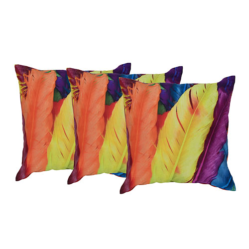 RECUS5207ME- Set of 3 Cotton Embroidered cushion cover