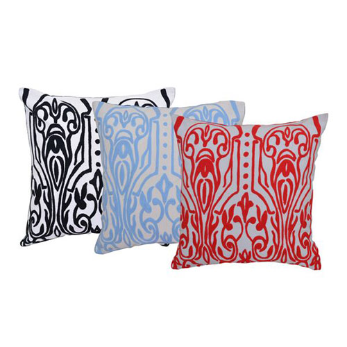 Set of 3 Organic Cotton Multi Color Cushion Cover