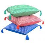 Set of 3 Organic Cotton Multi Color cushion cover