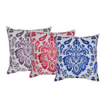 Set of 3 Multi Color Cotton Duck Cushion Cover