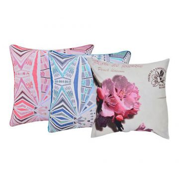 Set of 3 Multi Color Velvet Cushion Cover