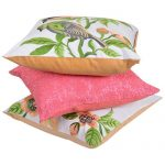 Set of 3 Multi Color Velvet Printed Cushion Cover