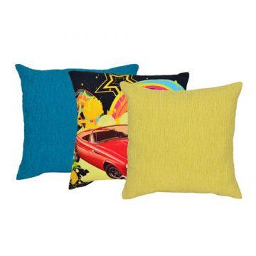 Set of 3 Multi Color Cotton Velvet Cushion Cover