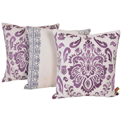 Set of 3 Multi Color Cotton Velvet Cushion Cover