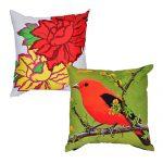 Set of 2 Organic Cotton Multi Color Cushion Cover