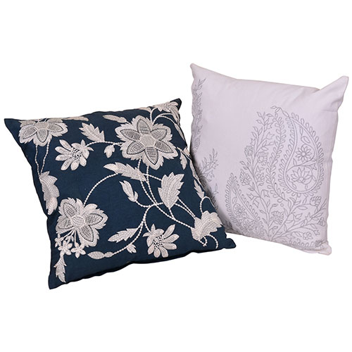 Set of 2 Multi Color Cotton Cushion Covers