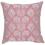 Peach and White Set of 2 Contemporary Cotton Cushion Covers