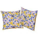 Set of 2 Multi Color Organic Cotton Cushion Cover