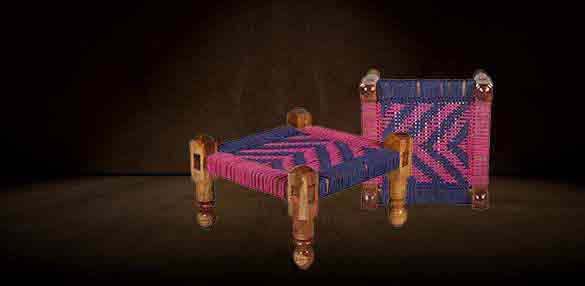 wodden knitted chowki online